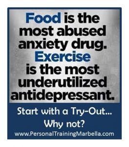 food vs drugs and exercises vs depression